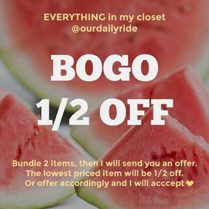 Handbags - BOGO 1/2 off! Limited Time. Bundle now.